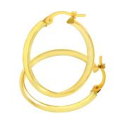 Citerna UER097Y 9 ct Yellow Gold Shiny Knife Edge Hoop Earrings
