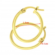 Citerna UER098Y 9 ct Yellow Gold Classic Hoop Earrings