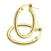 Citerna 9 ct Yellow Gold Oval Hoop Earrings