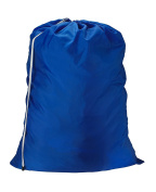 "Nylon Laundry Bag - Royal Blue, 22"" x 32"" - Sturdy rip and tear resistant nylon material with drawstring closure. Ideal machine washable nylon laundry bags for college, dorm and apartment dwellers."