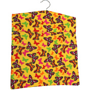 Sunshine Butterfly Laundry Peg Bag with Wooden Hanger