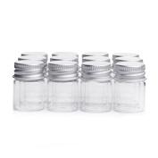 10Pcs/5ML Empty Sample Glass Bottles Jars Vials Case Container with Screw Caps,Transparent