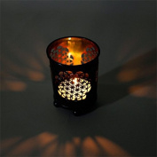 Candle 'Flower of Life Flower of Life, Nice Light for Long Nights - Tea Light Holder, bronze, 6x5cm