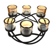 Smoked Glass Knot Tea Light Holder - Holds 6