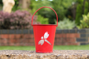 Real Flame Citronella Colour Changing LED Wax Candle in Bucket (Red) by PK Green