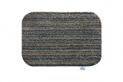Hug Rug 50x75cm Candy Stripe Slate Indoor Barrier Mat, Highly Absorbent and Machine Washable
