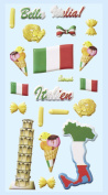 Softy Sticker, Leaning Tower of Pisa, Italy, Ice Cream, Italian Flag
