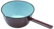 ibili Conical Enamelled Steel Saucepan, Brown, 18 cm