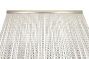 Premium Aluminium Insect Door Chain Screen Curtain 90x210cm SILVER