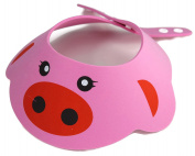 Strawberry Farms Adjustable 2 in 1 Baby Shower Cap and Sun Hat, Pink Pig