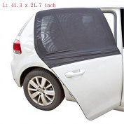 Lenmumu 2pcs Crape Mesh Windows Shade Block Sunscreen Insulation Car Side Window Baby the Old Sun Shade Windows Shade Block Car Sun Shade Fits 99% Cars