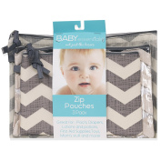 Baby Essentials 3 Piece Chevron Pouches
