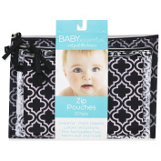 Baby Essentials 3 Piece Quatrefoil Pouches