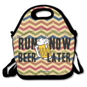 Running Funny Quote Large & Thick Insulated Tote Lunchbag Insulated Lunch Bag For Men Women Kids Enjoy You Lunch