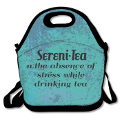 Sereni'tea Large & Thick Insulated Tote Lunchbag With Containers Lunch Bag For Men Women Kids Enjoy You Lunch