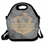Ring Security (Ring Bearer) Large & Thick Insulated Tote GroceryBags Tote Lunch Bag For Men Women Kids Art Of Lunch