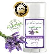 Silvanapure All Natural Deodorant, Aluminium Free Lavender 90ml - Healthy Deodorant - GMO-Free, Gluten-Free, Non-Toxic Deodorant w/ All Day Protection
