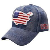 CITY HUNTER US63 USA America Map Patch Denim Baseball Cap