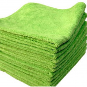 USA Premium Store 20 PACK NEW MICROFIBER TOWELS CLEANING TOWEL PLUSH 16X16 300 GSM LINT FREE GREEN