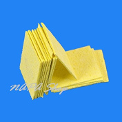 10Pcs Soldering Iron Tip Welding High Temperature Cleaning Sponge Yellow