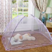 RuiHome Pop-Up Mosquito Net Tent without Bottom Cover Baby Bed Canopy Indoor Outdoor Safety Insect Netting - Purple