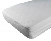 "CozyCuddles WATERPROOF Crib Mattress Protector - ANTI BEDBUGS Zipper Encasement Baby/Toddler Crib Mattress Cover (130cm Lx 28""Wx 6""H) - Pillow Case Included"