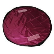 150cm Portable Clean Up Children Toy Storage Bag Pouch Kids Play Mat Toys Organiser Wine Red