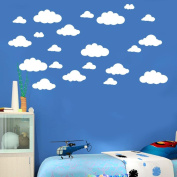 Sticker Wall, ZTY66 Removable 31PCS Clouds 4-25cm PVC Mural Sticker for DIY Home Decor