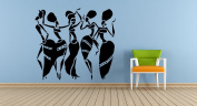 Wall Vinyl Sticker Decals Mural Room Design Pattern Art Decor African Woman Girl Africa Dance Style Pitcher Vase mi1046