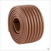 4m Edge + 8 Corners Baby Safe Edge and Corner Cushion - PRE-TAPED CORNERS Premium Childproofing Guard Child Home Furniture Safety Bumper Strip Widened Baby Proof Table Protector Coffee Brown