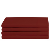 Beckham Hotel Collection Luxury Pillow Case (4 Pack) - Soft-Brushed Microfiber, Hypoallergenic, and Wrinkle Resistant - Standard/Queen - Burgundy