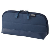 LIHIT LAB. Smart Fit Pen Case (Pencil Case), Navy, 20cm x 10cm ,