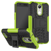 LG K20 Plus Case,LG K10 2017 case,LG K20 V Case, LG LV5 Case,ARSUE [Premium Rugged] Hybrid Heavy Duty Armour [Shock Resistant] Dual Layer with Kickstand Case for LG LV5/LG K10/K20 Plus - Green