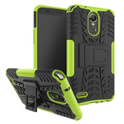 LG Stylo 3 Case,LG Stylus 3 case, ARSUE [Premium Rugged] Hybrid Heavy Duty Armour [Shock Resistant] Dual Layer with Kickstand Case for LG Stylo 3 / LG Stylo 3 Plus - Green