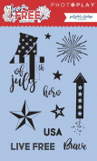 Photoplay Paper PHTLF2581 Photo Play Live Free Polymer Stamp