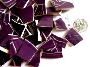 40 Textured Purple Mosaic Tiles, Broken China Mosaic Pieces, Ceramic Mosaic Tiles, Mosaic Art Supplies, Tile Mosaic Supply, Mosaic Craft Tiles, Broken Dish Pieces