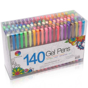 Smart Colour Art 140 Colours Gel Pens Set Gel Pen For Adult Colouring books Drawing Painting Writing
