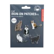Kikkerland Cat Patch Iron Set of 5
