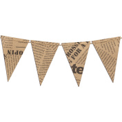 Ling's moment 3m Vintage Style Pennant Banner, Paper Triangle Flags Bunting for Wedding, Baby Shower, Event & Party Supplies, 15pcs Flags