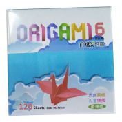 Maxleaf 120sheets Double-Sided Origami Paper 6 Vivid Colours 7cm by 7cm