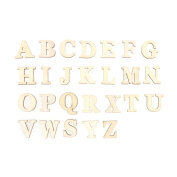 ULTNICE Wooden Letters for Wedding DIY Craft Self-adhesive 26pcs