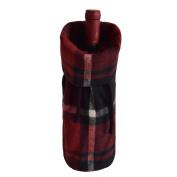 Gireshome Plaid Wine Bottle Cover Bag for Table Decorations Gift Bag Christmas Wine Bottle Bag Christmas Hostess Decoration Wine Bottle Cover Christmas Gift