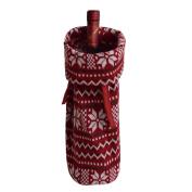 Gireshome Burgundy Snowflake Wine Bottle Cover Bag for Table Decorations Gift Bag Christmas Wine Bottle Bag Christmas Hostess Decoration Wine Bottle Cover Christmas Gift