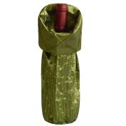 Gireshome Green Glitter & Pintuck Wine Bottle Cover Bag for Table Decorations Gift Bag Christmas Wine Bottle Bag Christmas Hostess Decoration Wine Bottle Cover Christmas Gift