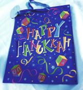 Happy Hanukkah Gift Bag with Gift Tag