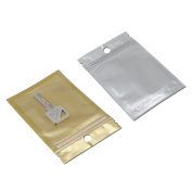 100Pcs 9x16cm (3.5x6.3 inch) Zip Lock Resealable Mylar Foil Plastic Pack Bag Gift Craft Jewellery Storage Packing Pouch