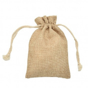 Gilroy 5Pcs Mini Vintage Burlap Bag Drawstring Wedding Party Favour Jute Sacks Gift Bags