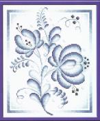 Cross Stitch Kit Blue Roses