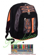 School Backpack SEVEN Advanced Colourful Boy + 30 Gel Pens in Gift