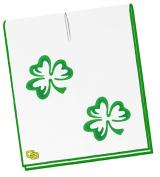 NEW Club Glove Irish Clover Microfiber White/Green 17x40 Caddy Towel